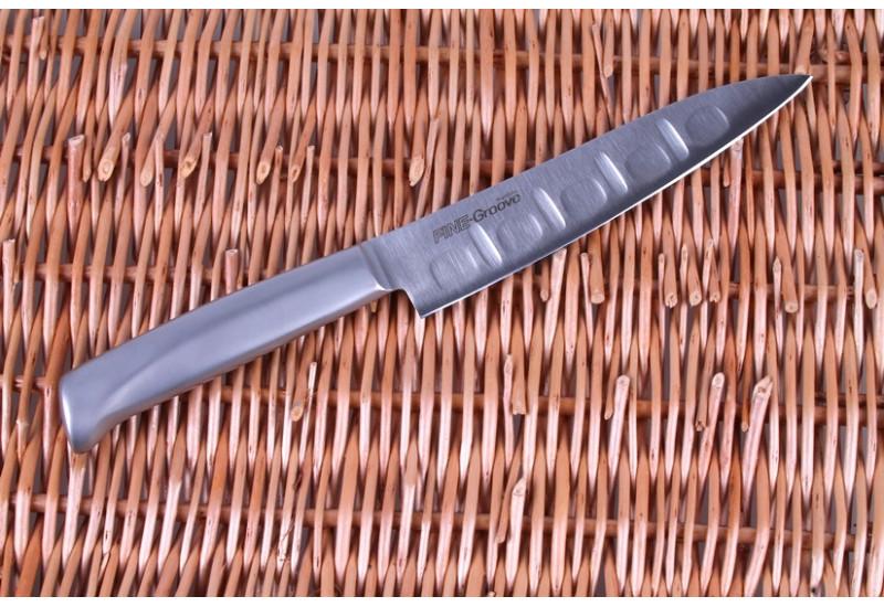 FC-340 Нож универсальный Tojiro Narihira, 150 мм, сталь Мо-V, рукоять сталь, #7000
