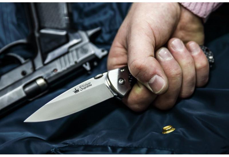 Складной нож Prime D2 Satin Carbon