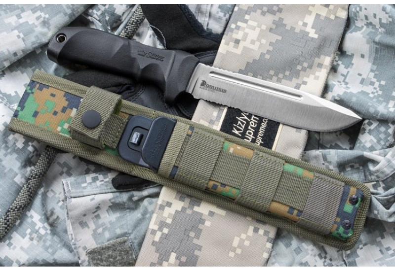 Нож Dominus AUS-8 Satin Seratted