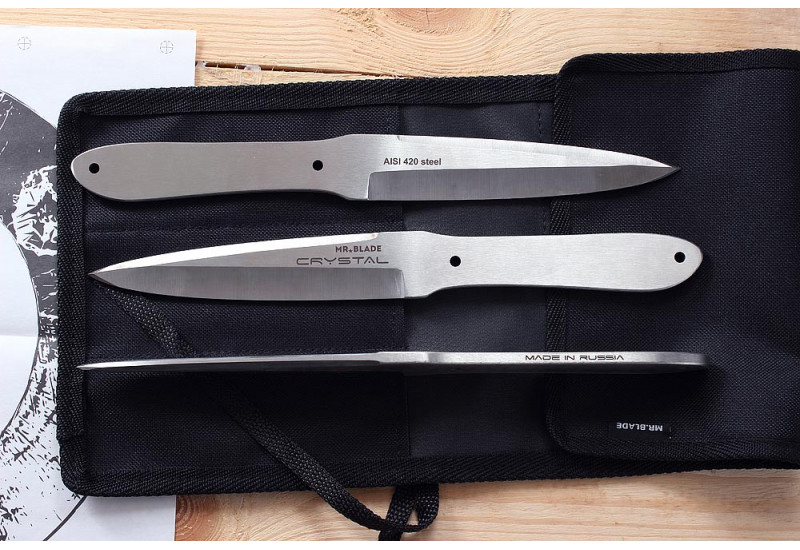 Набор из 3-х метательных ножей Crystal