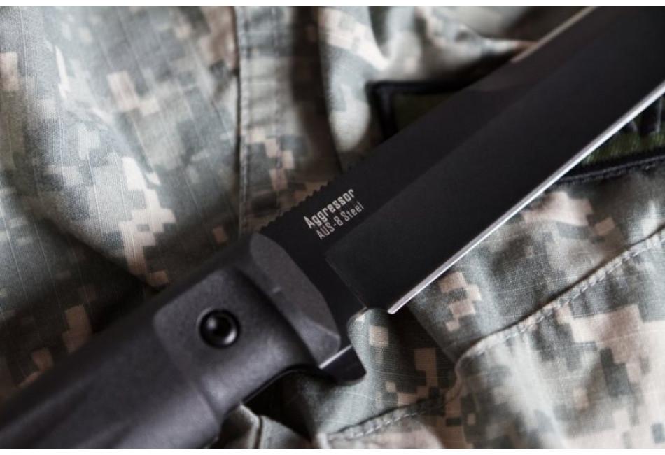 Нож Aggressor AUS-8 Black Titanium