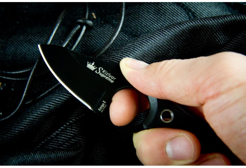 Шейный нож Amigo X AUS-8 Black