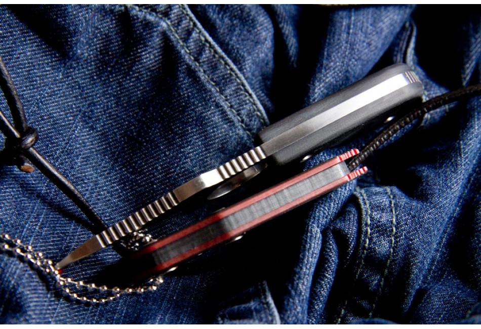 Шейный нож Amigo X D2 Satin
