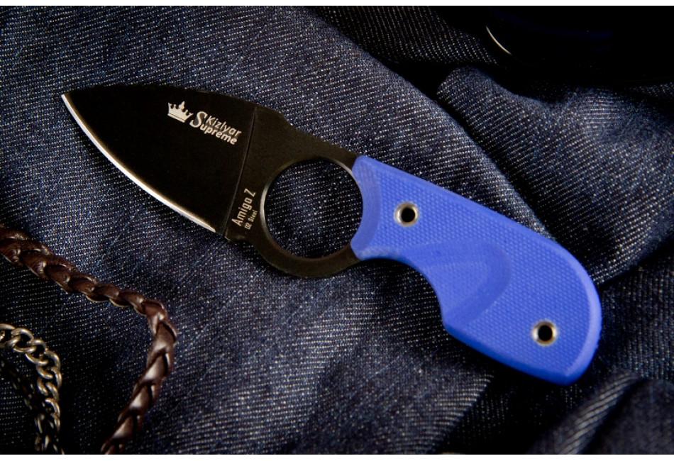 Шейный нож Amigo Z D2 Black