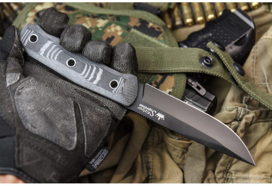 Нож Echo AUS-8 Black Titanium