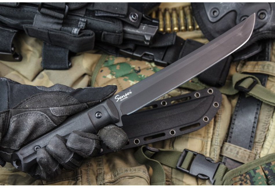 Нож Sensei D2 Black Titanium