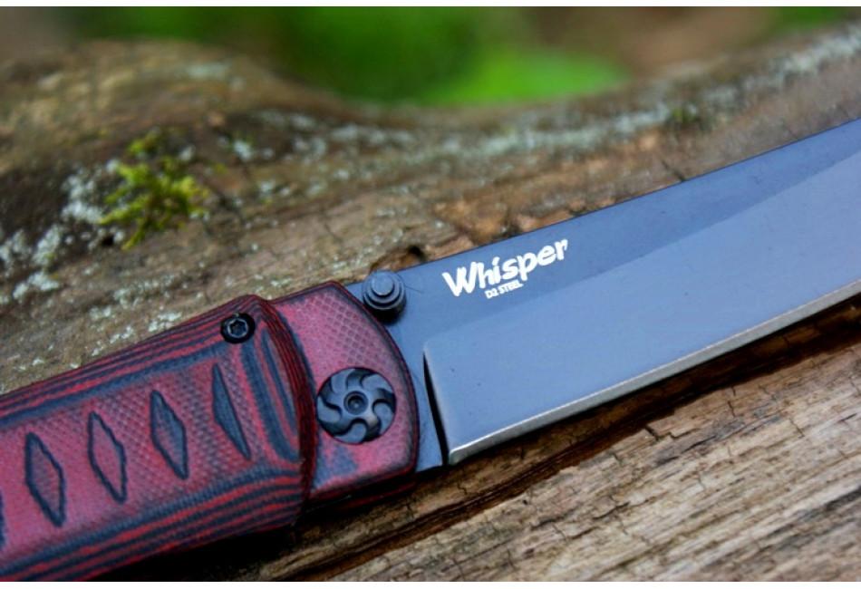 Складной нож Whisper D2 BT Red