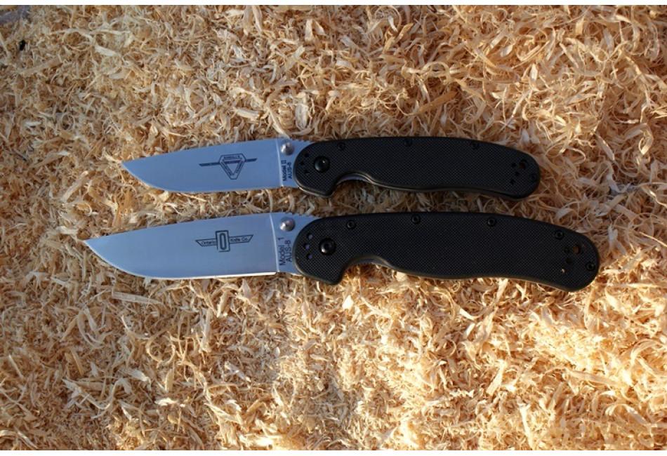 Складной нож Ontario RAT 1 Linerlock ON8848 Satin Plain Edge (Крыса)