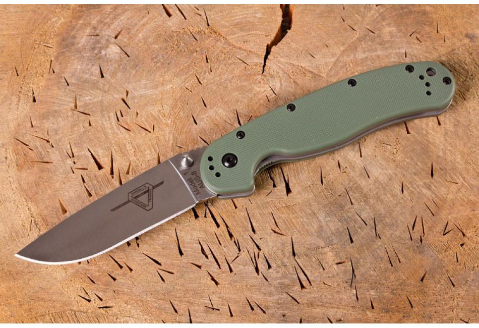 Складной нож Ontario RAT 1 Fofest Green ON8848FG Satin Plain Edge (Крыса)