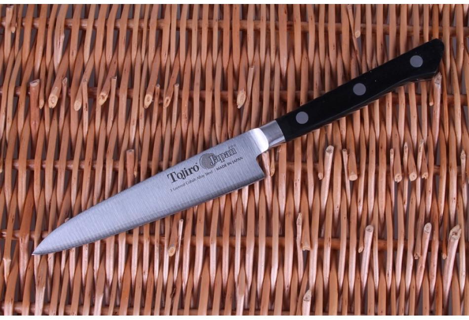 F-801 Нож универсальный Tojiro Western Knife, 120 мм, сталь VG10, 3 слоя, рукоять пластик