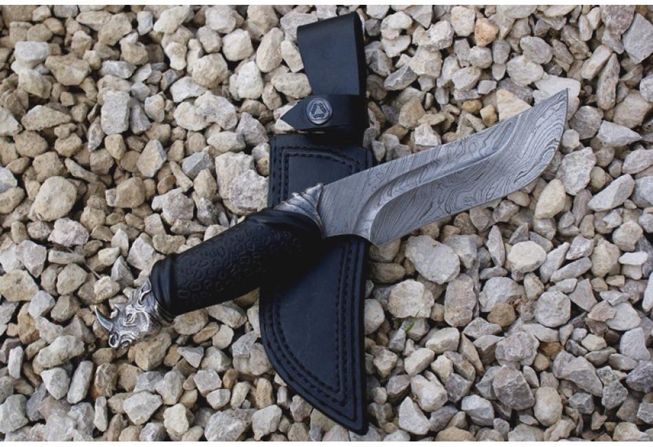 Нож Носорог дамаск