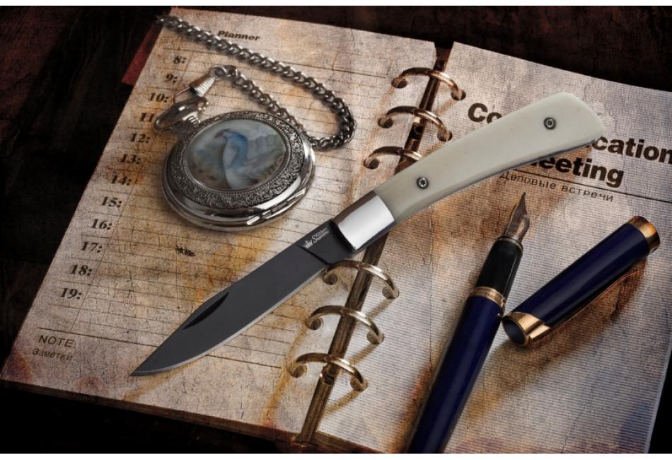 Складной нож Gent AUS-8 Black Titanium