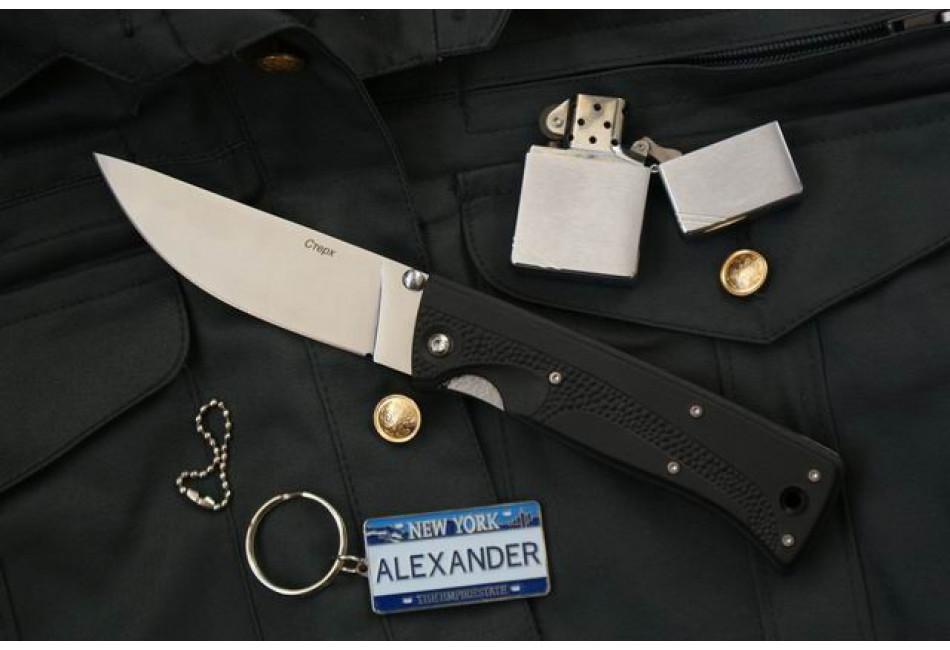 Складной нож Стерх AUS-8 эластрон