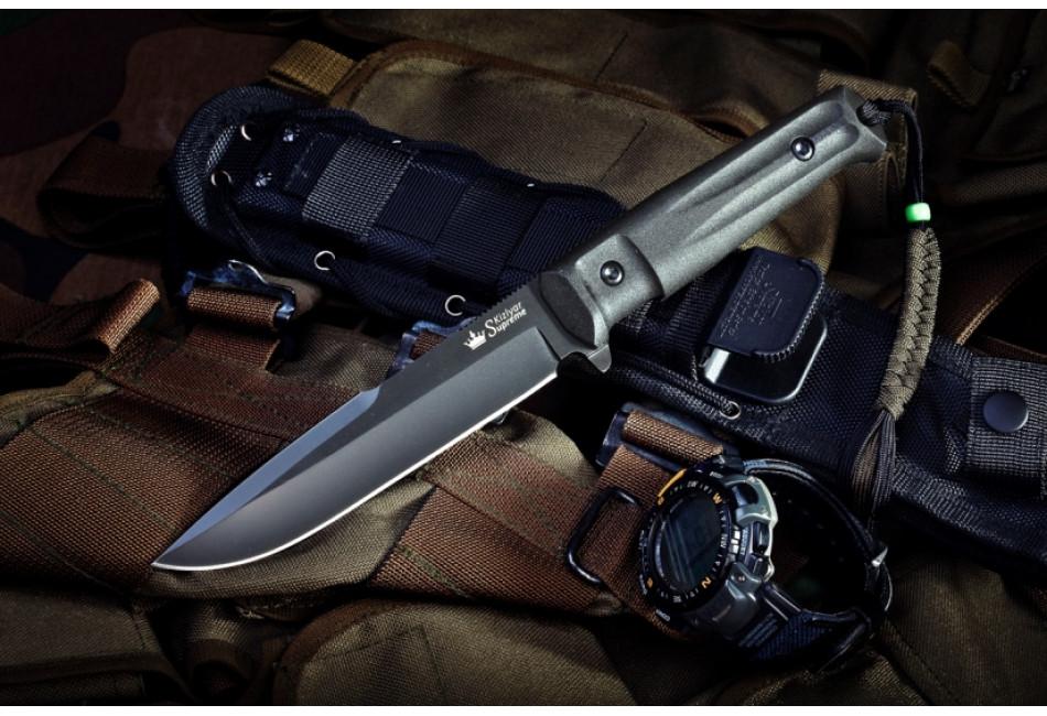 Нож Delta AUS-8 Black Titanium