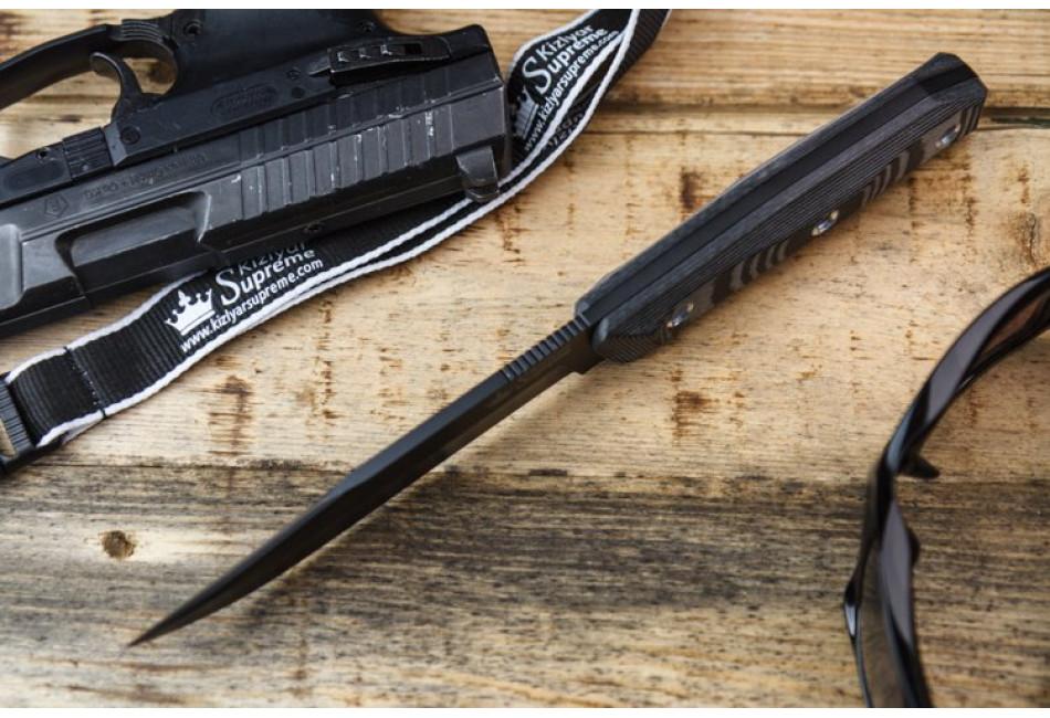 Нож Enzo AUS-8 Black Titanium