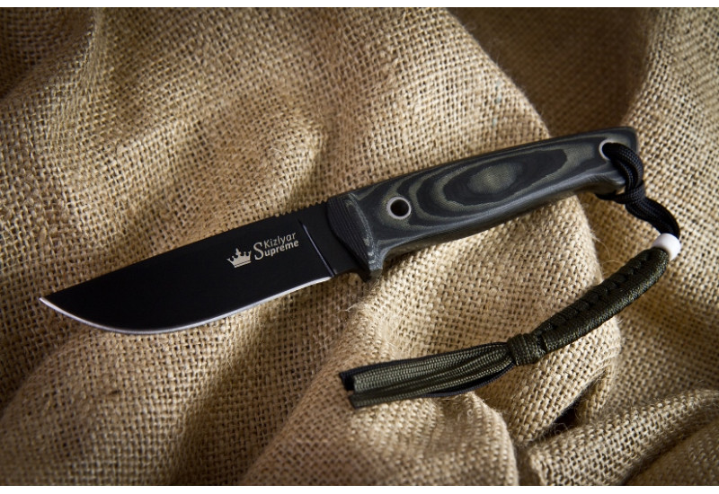 Нож Nikki D2 Black Titanium Kydex