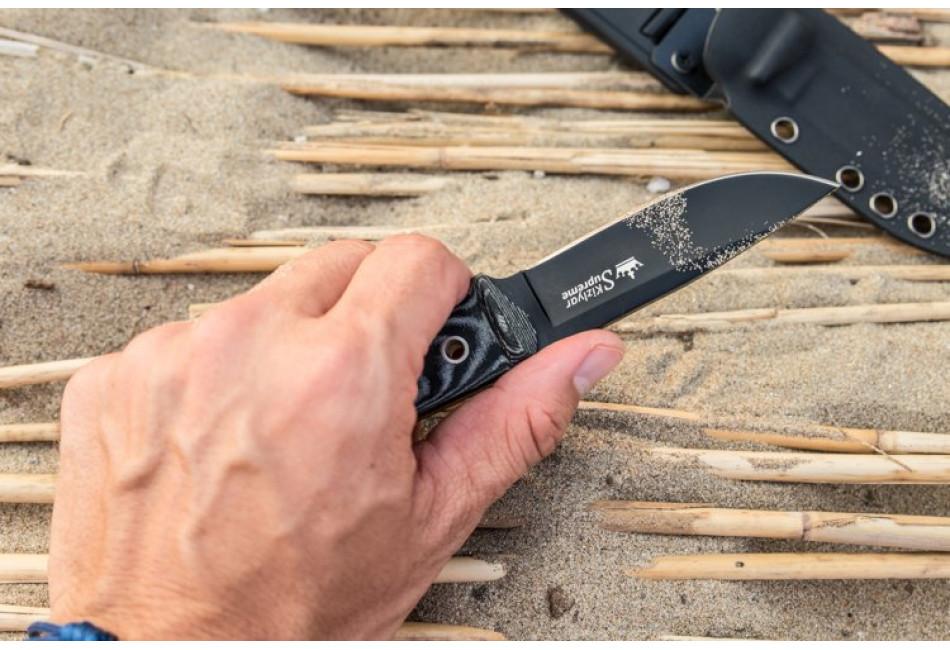 Нож Santi AUS-8 Black Titanium