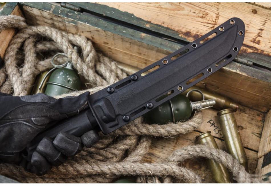 Нож Sensei AUS-8 Black Titanium