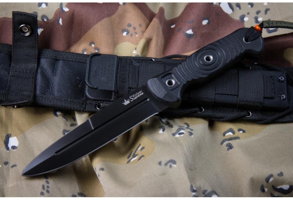 Нож Legion AUS-8 Black Titanium