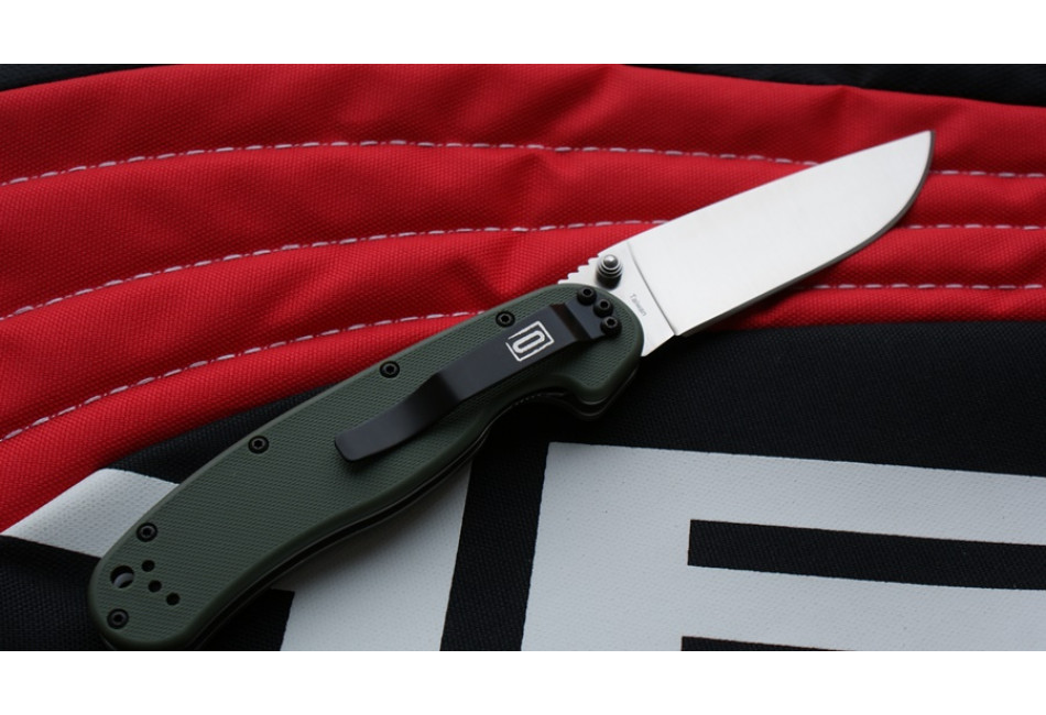 Складной нож Ontario Rat 1 D2 Tool Steel, Satin Blade, Olive Drab Handle ON8867OD