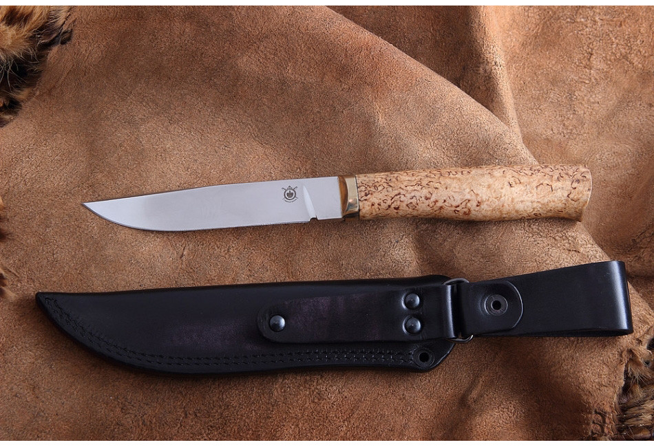 Нож Лис Bohler N695 Карельская береза
