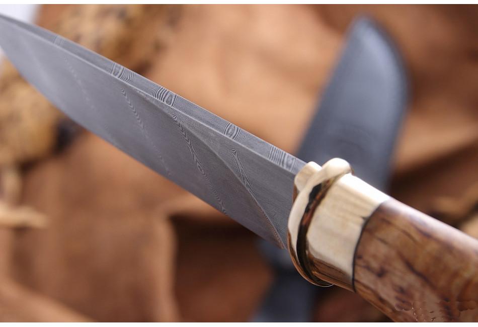 Нож Рысь дамаск
