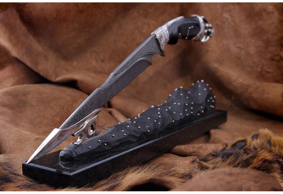 Нож Зодиак Дева дамаск
