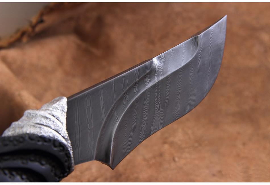 Нож Носорог СК дамаск