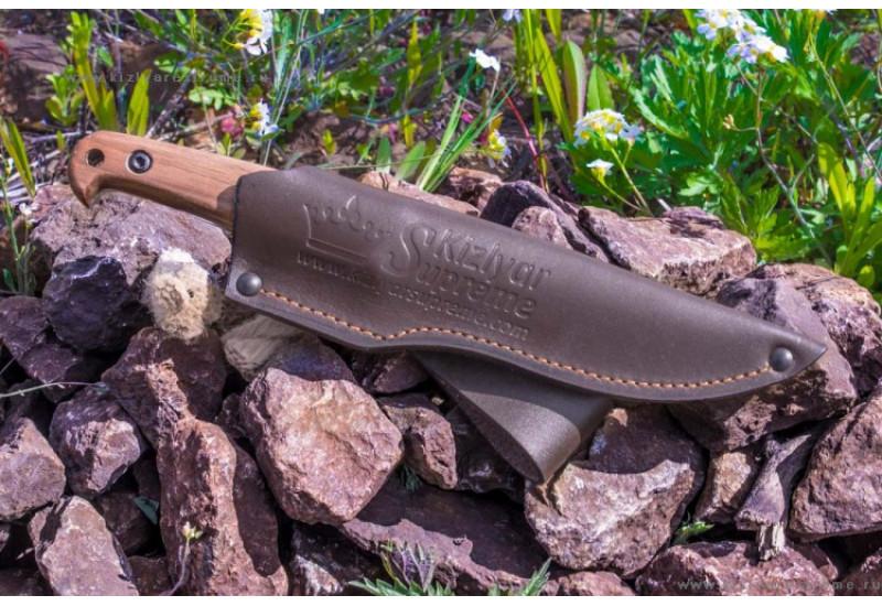 Нож Pioneer Sleipner Satin Орех