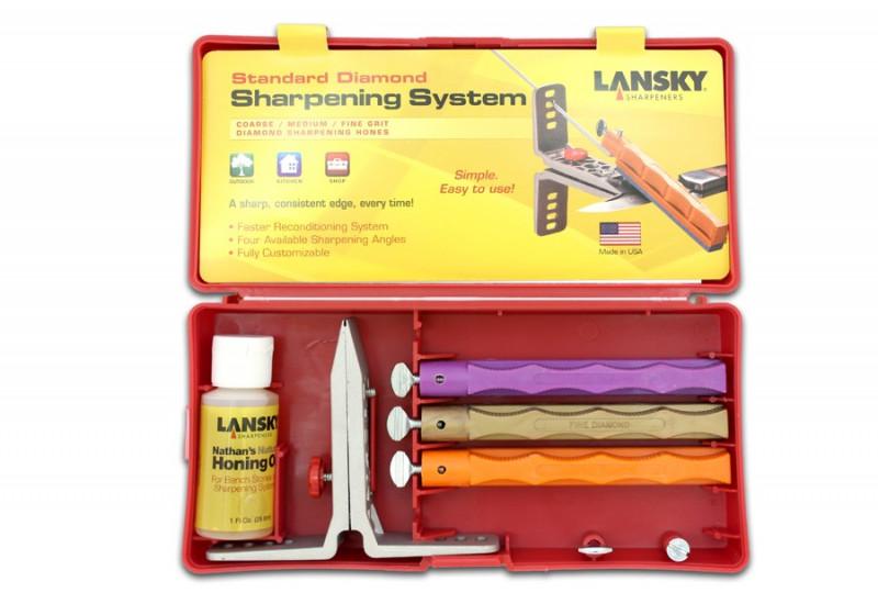 Набор для заточки ножей Lansky Standard Diamond LK3DM