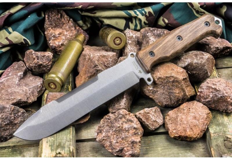 Нож выживания Survivalist X AUS-8 Stonewash орех