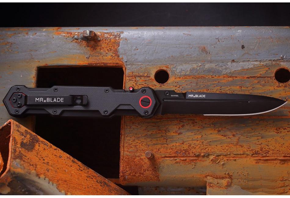 Складной нож Ferat D2 Black serrated