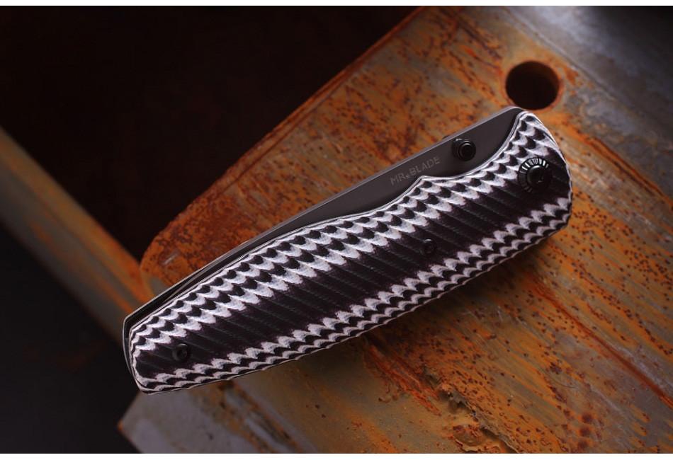 Складной нож ZIPPER COLORED G10 D2