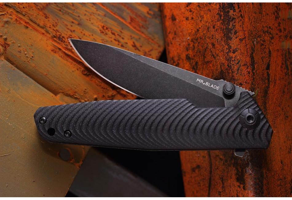 Складной нож RIFT BLACK D2