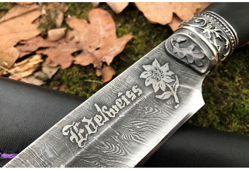 Нож Эдельвейс дамаск