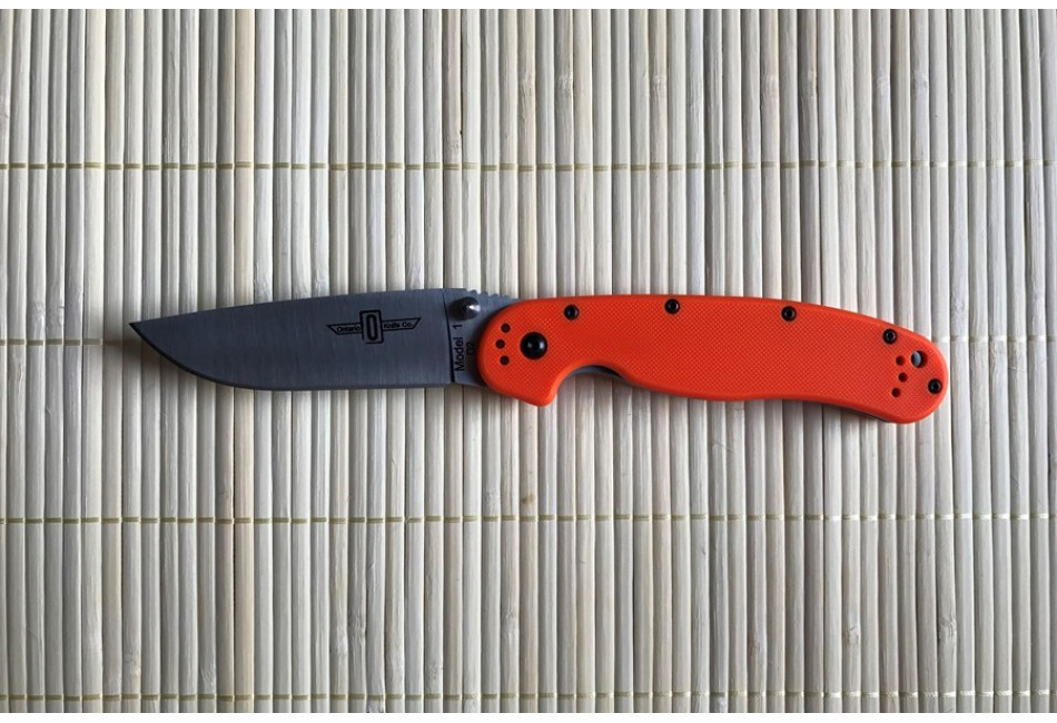 Складной нож Ontario Rat 1 D2 Tool Steel, Satin Blade, Orange Handle ON8867OR