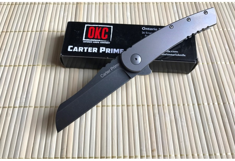 Складной нож Ontario Carter Prime Frame Lock Flipper Titanium ON8875