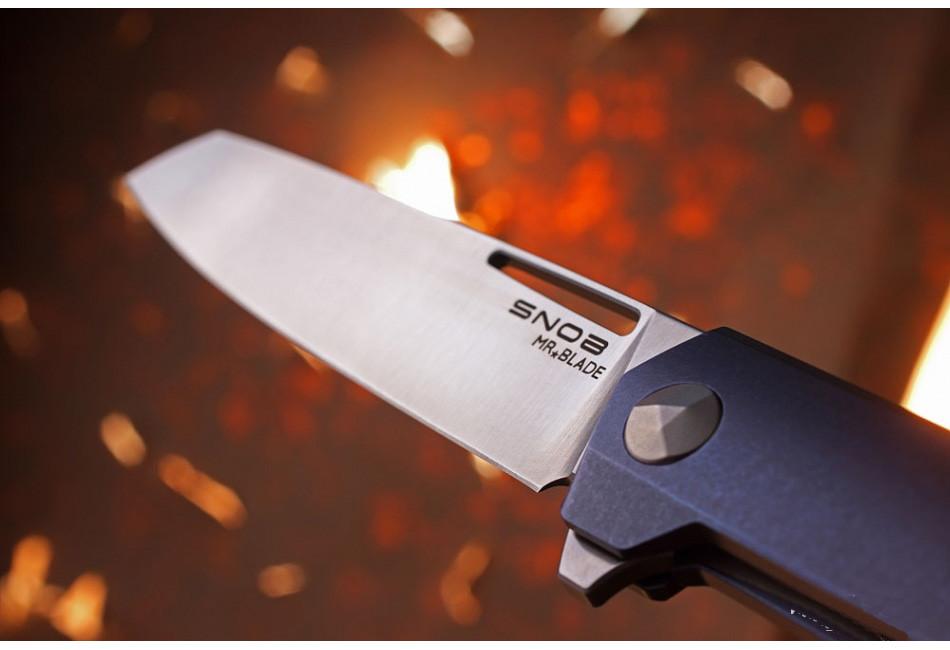 Складной нож Snob M390/Titanium