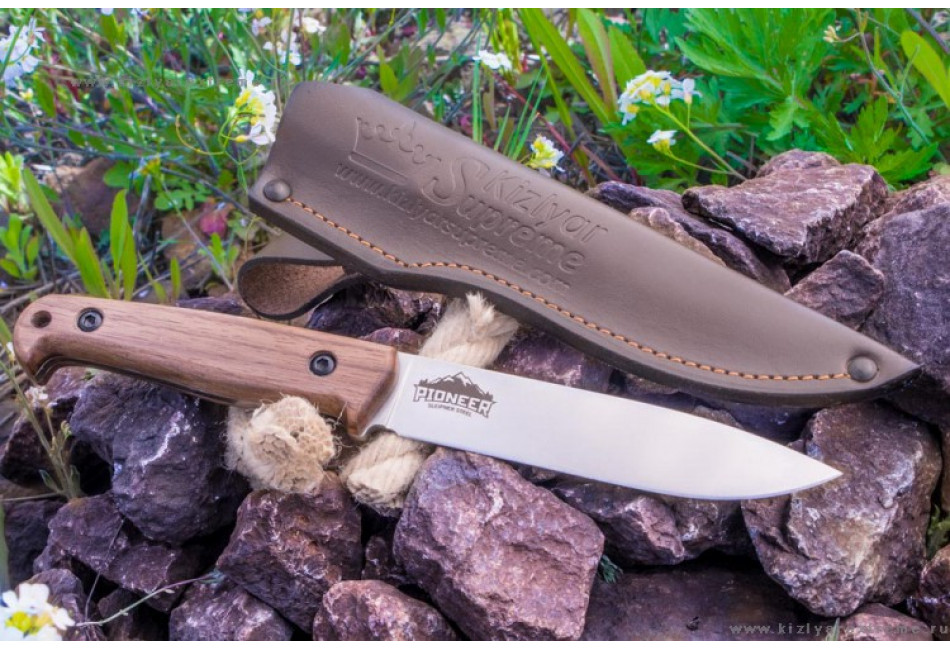 Нож Pioneer AUS8 Satin Орех