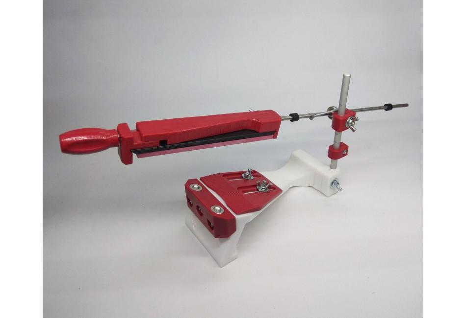 Станок для заточки ножей «ЖУК» красный (в комплекте с 6 камнями)
