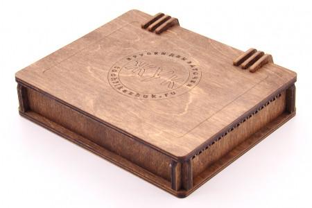 Деревянная шкатулка для хранения заточных брусков, 9 шт