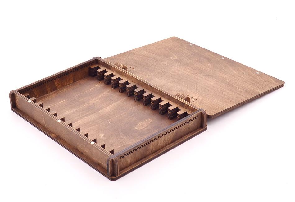 Деревянная шкатулка для хранения заточных брусков, 12 шт